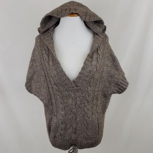 American Eagle Alpaca Wool Blend Hooded Sweater
